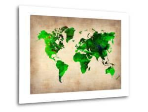 World Watercolor Map 6 by NaxArt