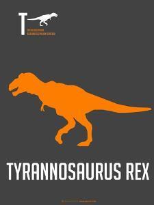 Yellow on Grey Dinosaur by NaxArt