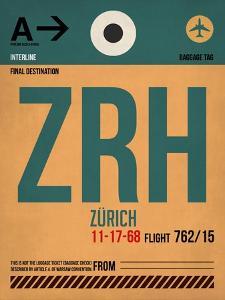 ZRH Zurich Luggage Tag 1 by NaxArt