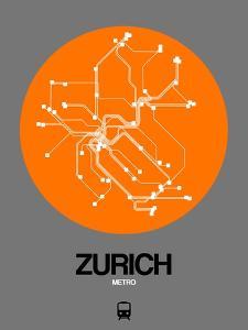 Zurich Orange Subway Map by NaxArt