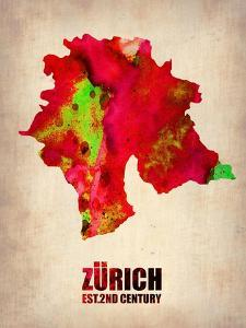 Zurich Watercolor Poster by NaxArt