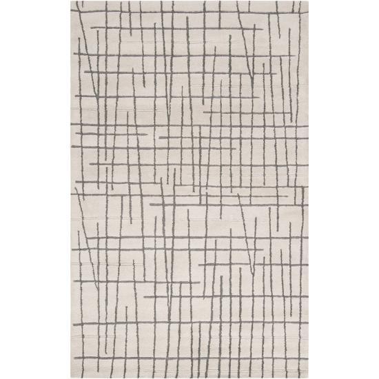 Naya Crosshatch Area Rug - Beige/Deep Gray 5' x 8'--Home Accessories