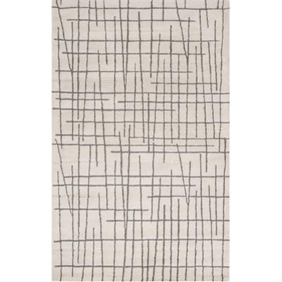 Naya Crosshatch Area Rug - Beige/Deep Gray 5' x 8'