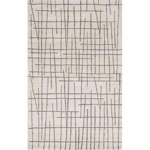 Naya Crosshatch Area Rug - Beige/Deep Gray 5' x 8'