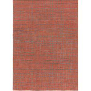Naya Crosshatch Area Rug - Rust/Gray 5' x 8'