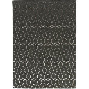 Naya Infinity Area Rug - Charcoal/Taupe 5' x 8'