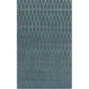 Naya Infinity Area Rug - Teal/Taupe 5' x 8'