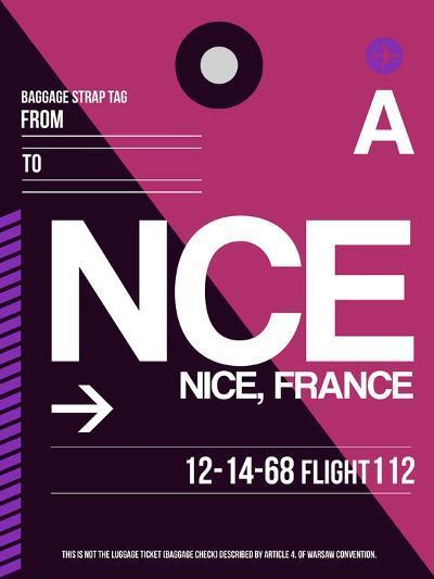 NCE Nice Luggage Tag 1-NaxArt-Art Print