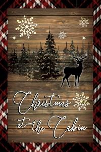 Christmas at the Cabin by ND Art