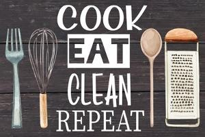 Cook Eat Clean Repeat by ND Art