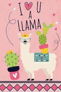 I Love You a Llama by ND Art
