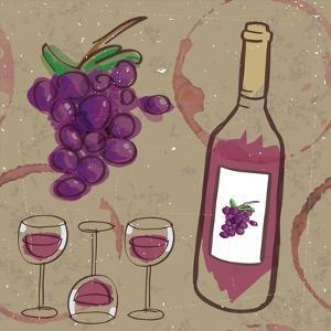 Peace, Love, Wine III by ND Art
