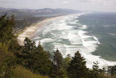 Neahkahnie Beach and Manzanita and Beach from Viewpoint, Oregon, USA-Jamie & Judy Wild-Photographic Print