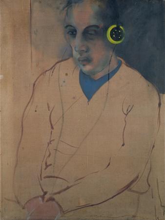 Man Wearing Earphones, C.1983