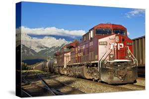 Canadian Pacific Freight Train Locomotive at Banff Station by Neale Clark