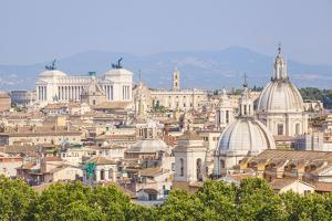 Churches and Domes of the Rome Skyline Showing Victor Emmanuel Ii Monument in the Distance, Rome by Neale Clark