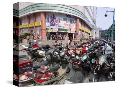 City Centre Scooters, Chengdu, Sichuan Province, China, Asia