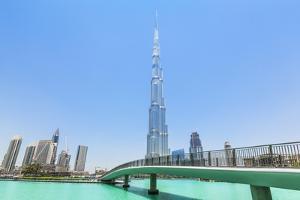 Dubai Burj Khalifa, Dubai City, United Arab Emirates, Middle East by Neale Clark