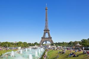 Eiffel Tower and the Trocadero Fountains, Paris, France, Europe by Neale Clark