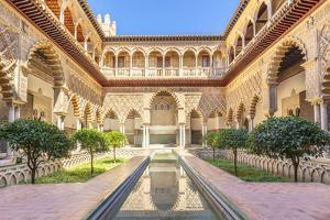 Patio de las Doncellas (The Courtyard of the Maidens), Real Alcazar (Royal Palace), Seville, Spain by Neale Clark