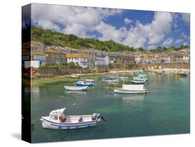 Small Fishing Boats in the Enclosed Harbour at Mousehole, Cornwall, England, United Kingdom, Europe