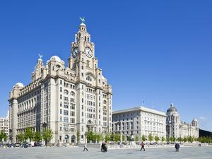 Three Graces Buildings, Pierhead, UNESCO Site, Liverpool, Merseyside, England, UK by Neale Clark