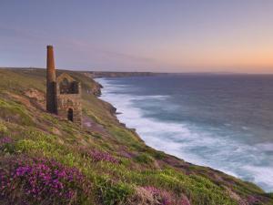 Wheal Coates, Abandoned Disused Cornish Tin Mine at Sunset, North Cornwall, England, United Kingdom by Neale Clark