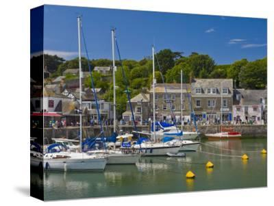 Yachts at High Tide in Padstow Harbour, Padstow, North Cornwall, England, United Kingdom, Europe