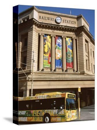 Bus Passing the Railway Station, Adelaide, South Australia, Australia