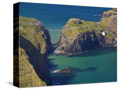 Carrick-A-Rede Rope Bridge to Carrick Island, Larrybane Bay, County Antrim, Ulster