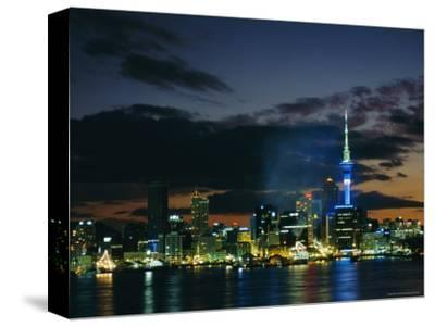 City Skyline at Night, Auckland, North Island, New Zealand, Pacific