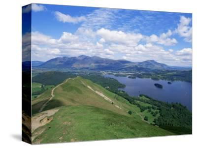 Derwent Water and Lonscale Fell from Cat Bells, Lake District National Park, Cumbria, England