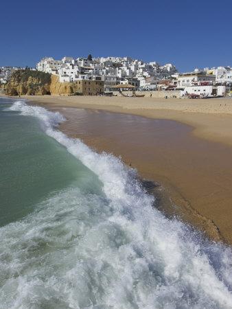 Fishermans Beach, Albufeira, Algarve, Portugal