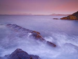 Sunset at Mellon Udrigle, Waves and Rocks, Wester Ross, North West Scotland, United Kingdom, Europe by Neale Clarke