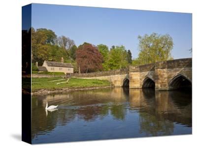 The Bridge Over the River Wye, Bakewell, Peak District National Park, Derbyshire, England, Uk
