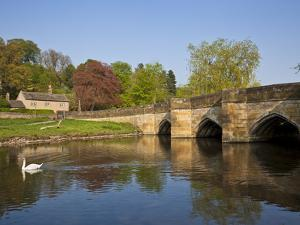 The Bridge Over the River Wye, Bakewell, Peak District National Park, Derbyshire, England, Uk by Neale Clarke