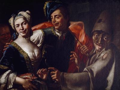 Neapolitan Masks-Giuseppe Bonito-Giclee Print