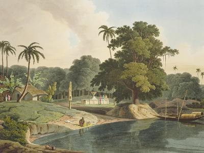Near Bandell on the River Hoogly, Plate Viii from Part 6 of 'Oriental Scenery', Pub. 1804-Thomas & William Daniell-Giclee Print
