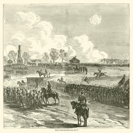 Near Chancellorsville, May 1, May 1863--Giclee Print