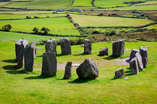near Glandore, County Cork, Republic of Ireland. Drombeg recumbent stone circle. It is also know...--Photographic Print