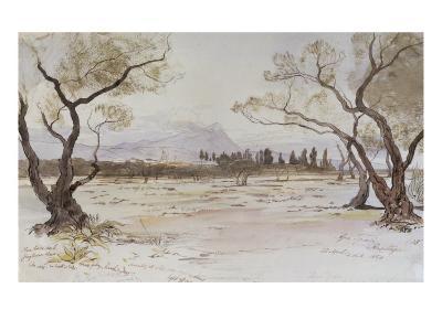 Near Kanea, Crete, 1864-Edward Lear-Giclee Print