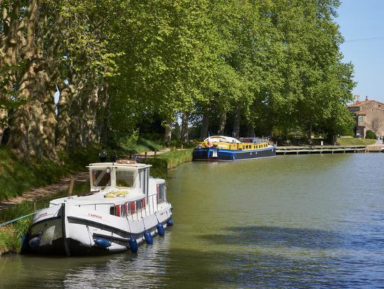 Near Locks of Fonserannes, Canal du Midi, UNESCO World Heritage Site, Beziers, Herault, France-Tuul-Photographic Print