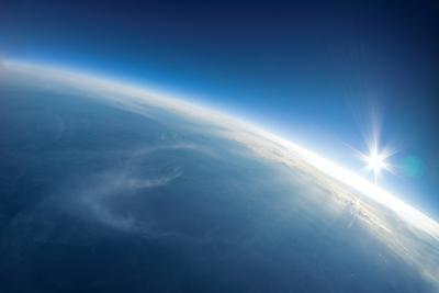 Near Space Photography - 20Km above Ground / Real Photo-dellm60-Art Print