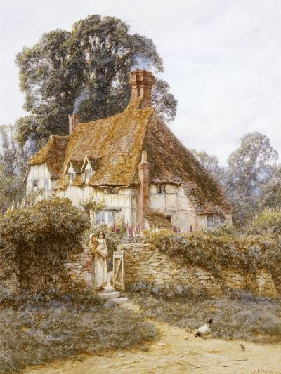 Near Witley, Surrey (Watercolour with Scratching Out)-Helen Allingham-Giclee Print