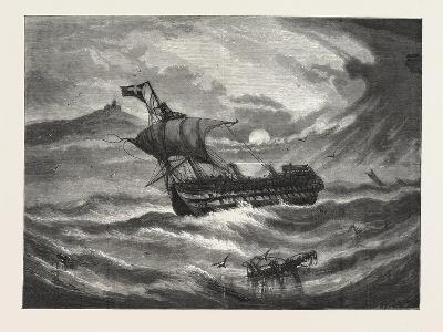 Nearing Home. 1876, Boat, Vessel, Maritime, Sea--Giclee Print