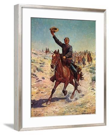 Nearing the Fort-Charles Shreyvogel-Framed Art Print
