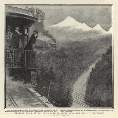 Nearing the Rockies, the Grand Prospect from the End of the Train-Sydney Prior Hall-Giclee Print
