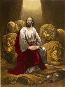 Nebuchadnezzar Casts Daniel into a Den of Lions with the Intention That They Would Eat Him