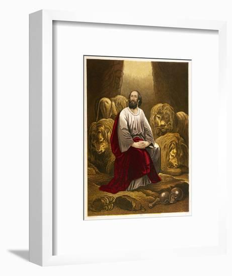 Nebuchadnezzar Casts Daniel into a Den of Lions with the Intention That They Would Eat Him--Framed Giclee Print