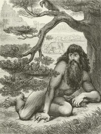 Nebuchadnezzar Dwelling with the Beasts of the Field--Giclee Print